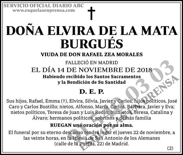 Elvira de la Mata Burgués